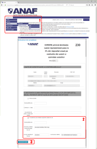 ANAF - Spatiul Privat Virtual - D230